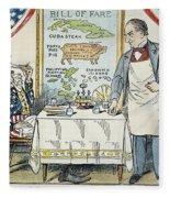 William Mckinley Cartoon Fleece Blanket