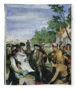 William Penns Treaty, 1682 Fleece Blanket