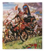 William The Conqueror At The Battle Of Hastings Fleece Blanket