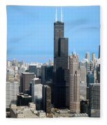 Willis Sears Tower 01 Chicago Fleece Blanket