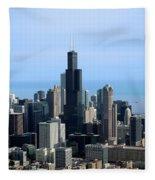 Willis Sears Tower 02 Chicago Fleece Blanket