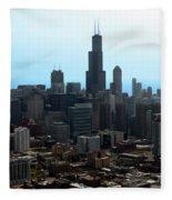 Willis Sears Tower 04 Chicago Fleece Blanket