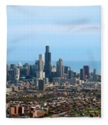 Willis Sears Tower 05 Chicago Fleece Blanket