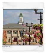 Willoughby City Hall Fleece Blanket