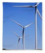 Wind Farm I Fleece Blanket