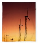 Wind Power For Agriculture Fleece Blanket