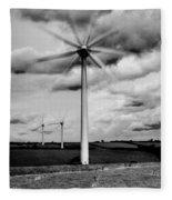 Wind Turbines Mono Fleece Blanket
