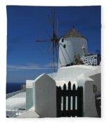 Windmill Greek Islands Fleece Blanket