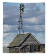Windmill In The Storm Fleece Blanket