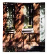 Window Boxes Greenwich Village Fleece Blanket