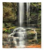 Window Falls Cascade Fleece Blanket