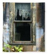 Window In Old Wall Fleece Blanket
