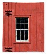 Window In Red Wall Fleece Blanket