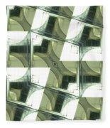 Window Mathematical  Fleece Blanket