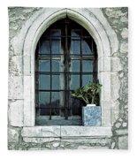 Window Of A Chapel Fleece Blanket