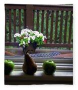 Window Sill 4 Fleece Blanket