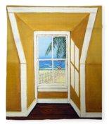 Window To The Sea No. 3 Fleece Blanket
