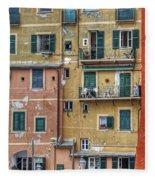 Windows Of Camogli Fleece Blanket