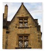 Windows Of Sarlat Fleece Blanket