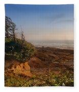 Windswept Coast Fleece Blanket