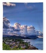 Windward Clouds Fleece Blanket