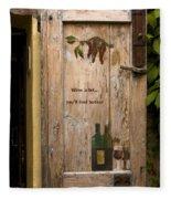 Wine A Bit Door Fleece Blanket