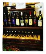 Wine And Song  Fleece Blanket