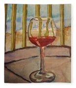 Wine By The Water Fleece Blanket