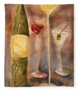 Wine Or Martini? Fleece Blanket