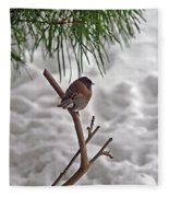 Winter Bird Fleece Blanket