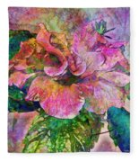 Winter Bloom Fleece Blanket