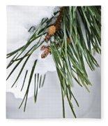 Winter Branches Fleece Blanket