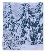 Winter Coat Fleece Blanket