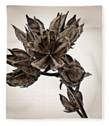 Winter Dormant Rose Of Sharon - S Fleece Blanket