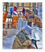 Winter Fest Artist Fleece Blanket