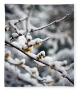 Winter Fleurs Fleece Blanket