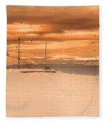 Winter Flight Fleece Blanket