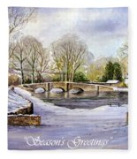 Winter In Ashford Xmas Card Fleece Blanket