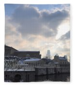 Winter In Philly Fleece Blanket