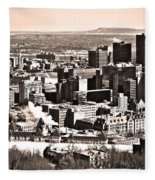 Winter In The City ... Fleece Blanket