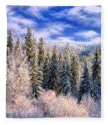 Winter In The Rockies Fleece Blanket