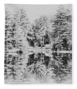 Winter Lake Fleece Blanket