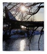 Winter Lake Fleece Blanket