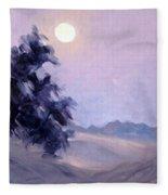 Winter Moonrise Fleece Blanket