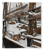 Winter On Deck Fleece Blanket