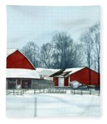 Winter Respite In The Heartland Fleece Blanket