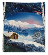 Winter Retreat Fleece Blanket
