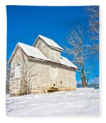 Winter Smoke House Fleece Blanket