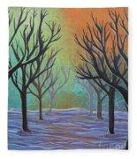 Winter Solitude 11 Fleece Blanket