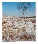 Winter Tree Nachusa Grasslands Fleece Blanket